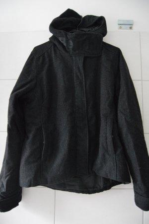 Bench übergangsjacke Wolle gr.XL anthrazit-schwarz