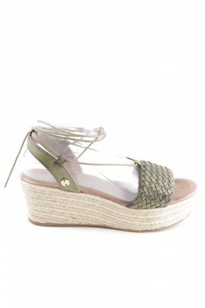 Bench Wedges Sandaletten khaki-wollweiß Casual-Look