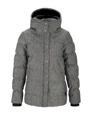 BENCH Winter Jacke Mantel Skijacke Steppjacke + Kapuze grey – XS