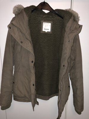 Bench Winterjack groen-grijs-khaki