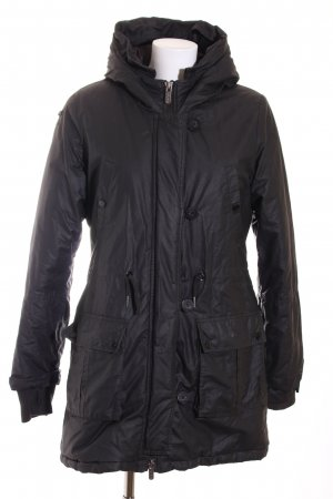 Bench Winterjacke schwarz Casual-Look