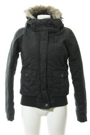 Bench Winterjacke schwarz Casual-Look