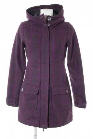 Bench Wintermantel dunkelbraun-violett abstraktes Muster Casual-Look
