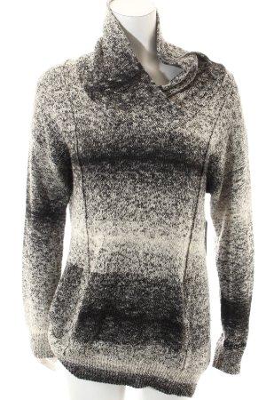 Bench Wollpullover schwarz-wollweiß Kuschel-Optik
