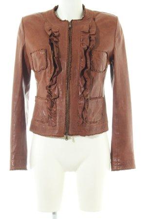 Benedetta Novi Leather Jacket brown elegant
