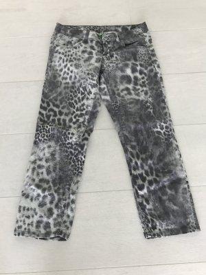 BENETTON 3/4 Hose Leopardoptik, Gr 34