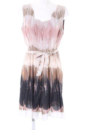 Benetton A-Linien Kleid abstraktes Muster Elegant