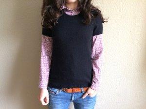 Benetton Camisa tejida negro lana de angora