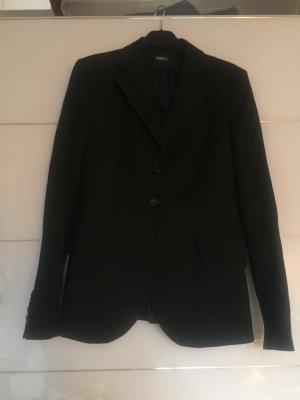 Benetton Tailleur-pantalon bleu foncé-noir