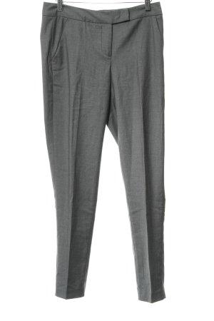 Benetton Pantalone da abito grigio scuro puntinato stile professionale