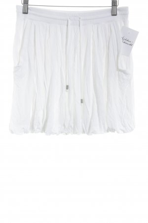 Benetton Gonna a palloncino bianco stile casual