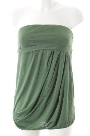 Benetton Top bandeau verde claro estilo sencillo