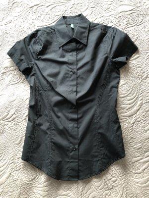 Benetton Short Sleeved Blouse black