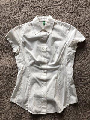 Benetton Short Sleeved Blouse white
