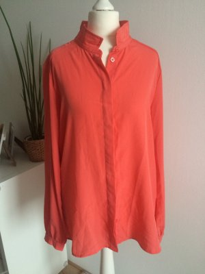Benetton Bluse M 38 neu lachs koralle Hemd Shirt