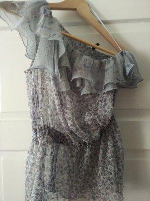 Benetton Mouwloze blouse veelkleurig kunststof