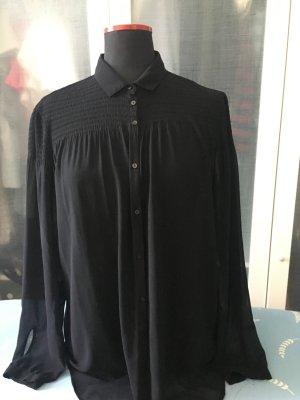 Benetton Bluse schwarz transparent L