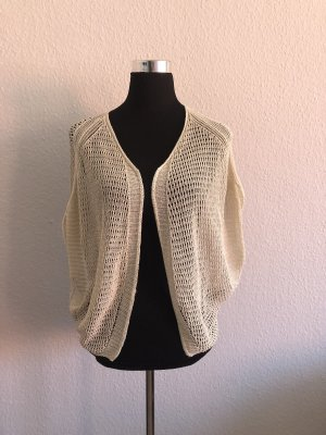 Benetton Knitted Bolero white-gold-colored