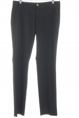 Benetton Bundfaltenhose schwarz Business-Look