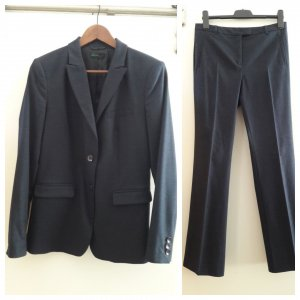 United Colors of Benetton Business Suit dark blue-slate-gray mixture fibre