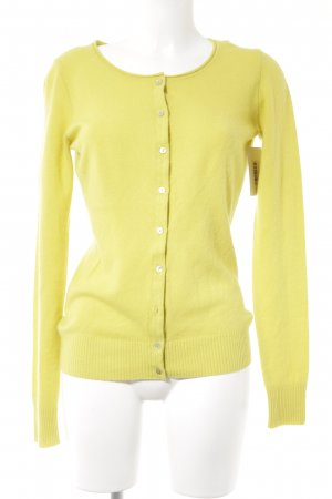 Benetton Cardigan gelb Business-Look