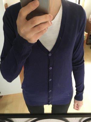 Benetton Cardigan in maglia viola scuro-lilla