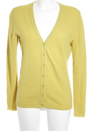 Benetton Cardigan limettengelb Casual-Look