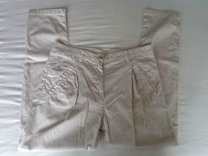 Benetton Pantalone chino beige chiaro-bianco sporco