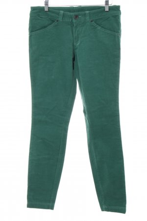Benetton Corduroy Trousers turquoise-green casual look