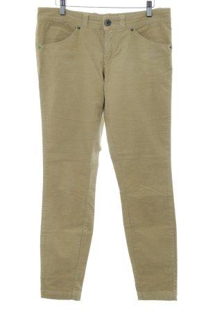 Benetton Pantalone di velluto a coste crema stile casual