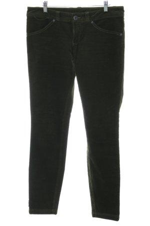 Benetton Pantalone di velluto a coste nero stile casual