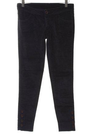 Benetton Pantalón de pana negro Estilo años 90