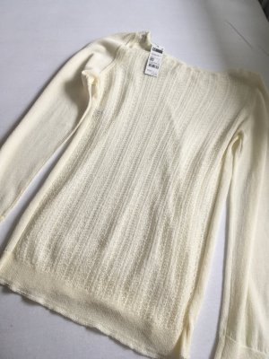 Benetton Kraagloze sweater wolwit