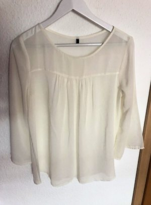 Benetton Blouse transparente blanc