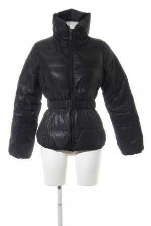 Benetton Down Jacket black quilting pattern casual look