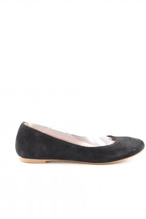 Benetton faltbare Ballerinas schwarz-braun Business-Look
