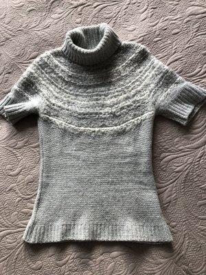 Benetton Short Sleeve Sweater light grey-natural white