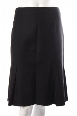 Benetton Godet Skirt black wool