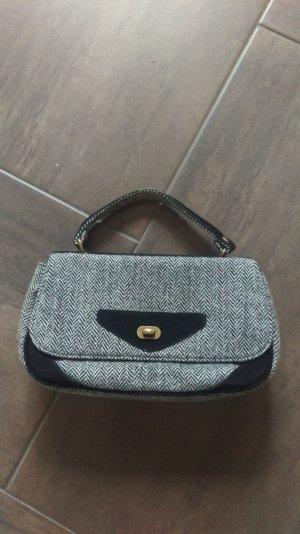benetton Handtasche grau/schwarz