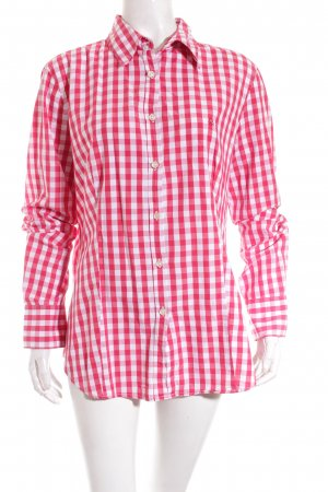 Benetton Hemd-Bluse rot-weiß Karomuster Casual-Look