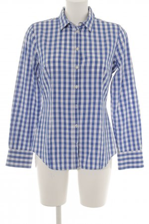 Benetton Shirt Blouse white-blue check pattern casual look