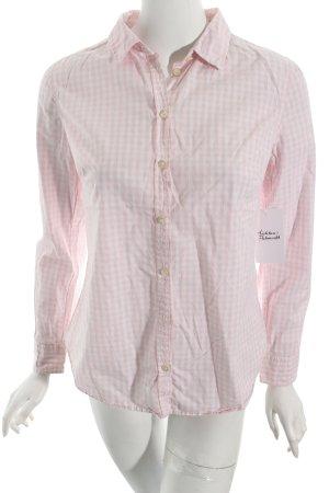 Benetton Hemd-Bluse weiß-rosa Karomuster Street-Fashion-Look