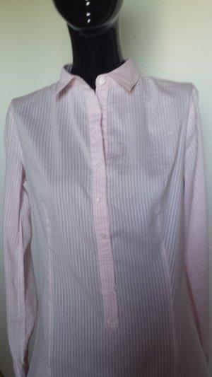 Benetton, Hemdbluse in rose mit weißen Streifen, Gr. 36