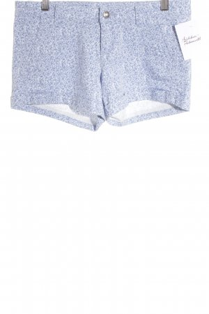 Benetton Hot Pants steel blue-white flower pattern beach look