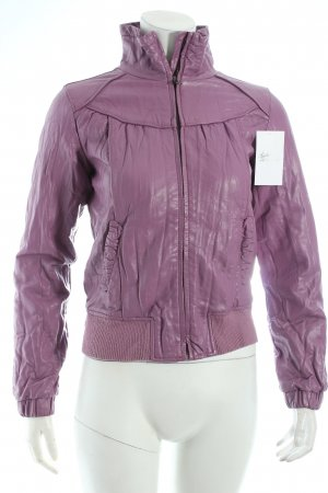 Benetton Jacke flieder Biker-Look