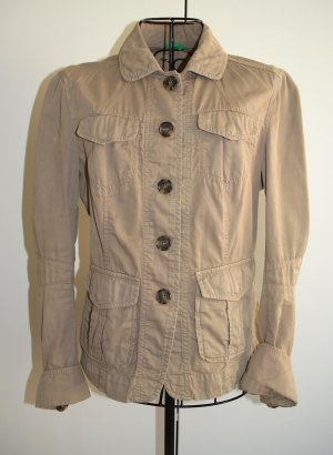 Benetton Safari Jacket green grey cotton