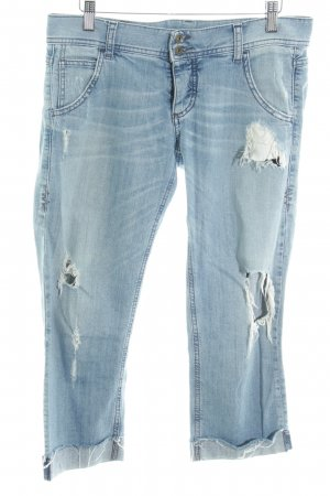 Benetton Jeans 3/4 Jeans blau Casual-Look