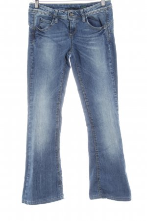 Benetton Jeans Boot Cut Jeans stahlblau-wollweiß Casual-Look