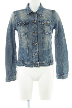 Benetton Jeans Spijkerjack donkerblauw ontspannen stijl