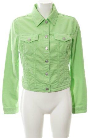 Benetton Jeans Spijkerjack neon groen casual uitstraling